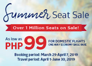 99php Airfare Sale for Flights from Cebu and more
