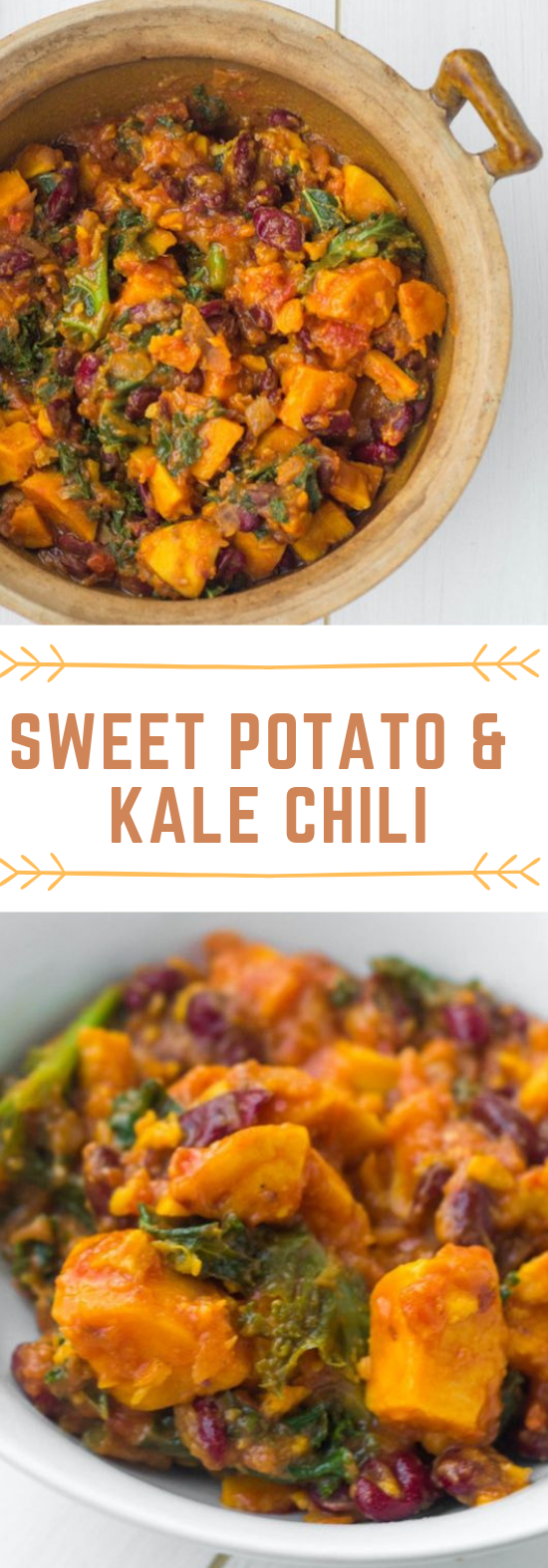 SWEET POTATO & KALE CHILI #vegan #potato