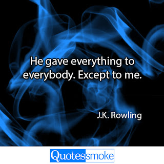 J K Rowling Sad Quote