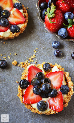 Red, White, and Blue Fruit Tart | by Life Tastes Good