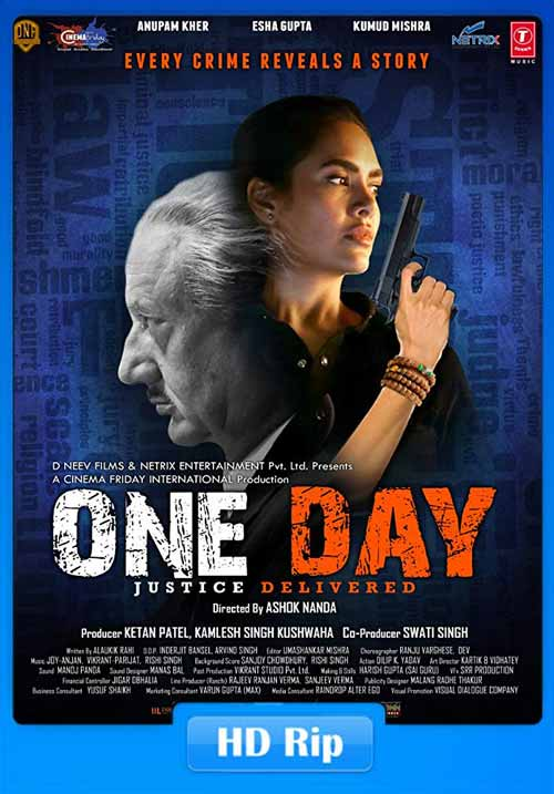 One Day Justice Delivered 2019 Hindi 720p HDTV x264   480p 300MB   100MB HEVC