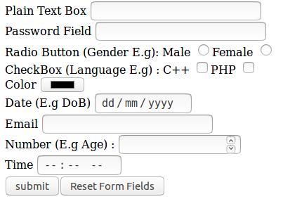 html input