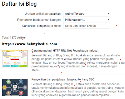 sitemap daftar isi