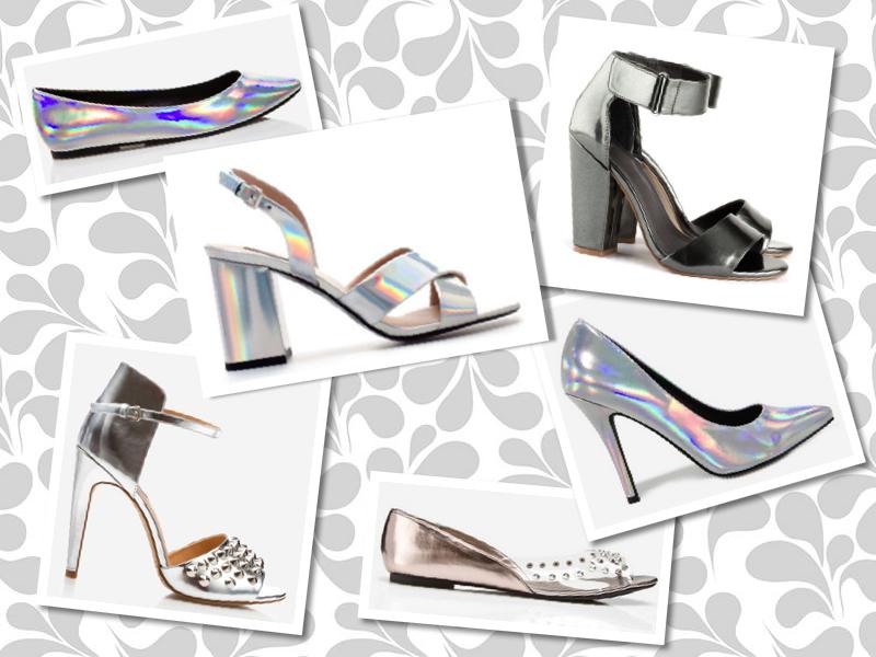 3f90fdd82 A tendência já chegou até as lojas de fast fashion, que também estão  apostando forte no metalizado, principalmente nos calçados e acessórios.