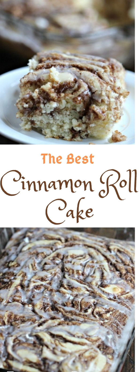 THE BEST CINNAMON ROLL CAKE RECIPE #easyrecipe #rollcake