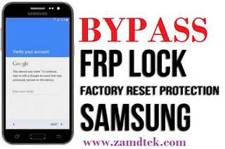 Samsung Galaxy J7 FRP bypass & Google account reset
