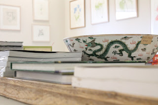 Bowl and books at Burtown House Gallery