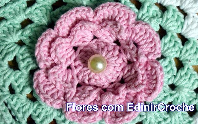 Flores em Croche com Edinir Croche