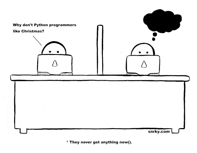 Why don't Python programmers like Christmas?