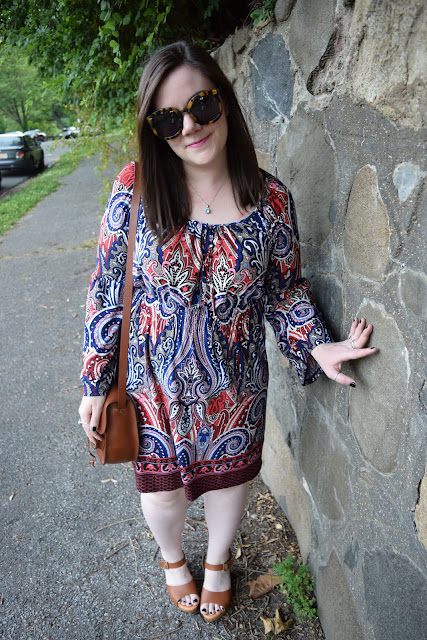 Sequins and Skulls: Sweetheart Peasant Dress