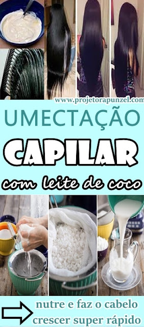 Umectação CAPILAR Caseira com LEITE de COCO