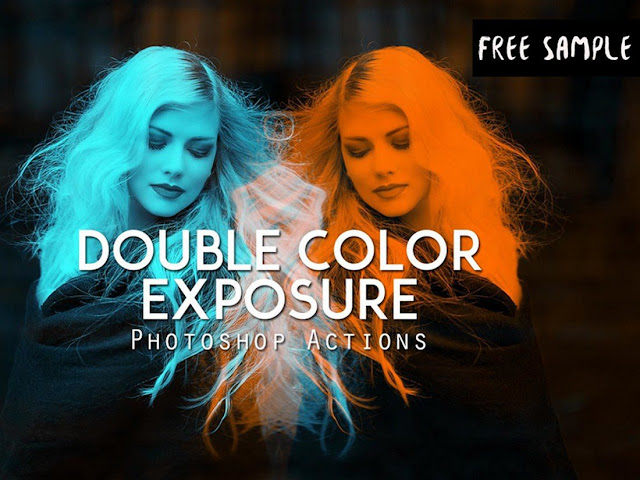 Free Double Color Exposure Actions
