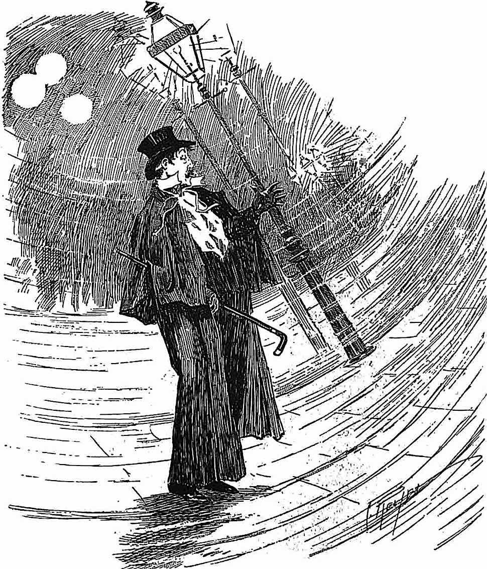 an 1896 cartoon about a drunken gentleman