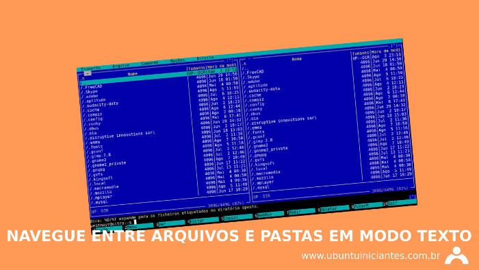 navegador de arquivos modo texto