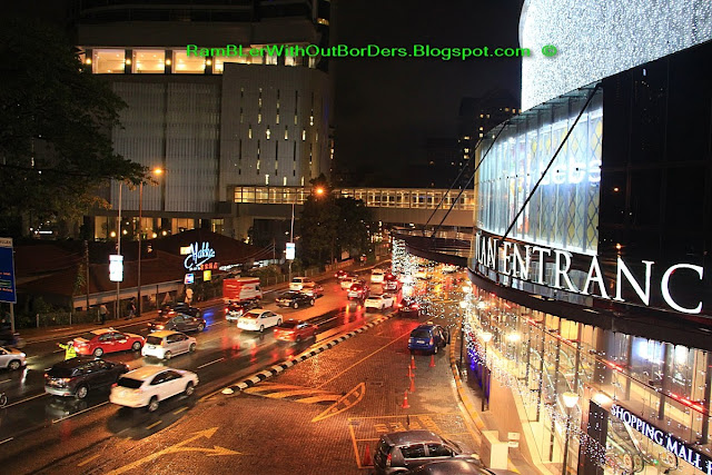 View from BBKLCC walkway of Jalan Raja Chulan at the back of Pavilion, KL, Malaysia