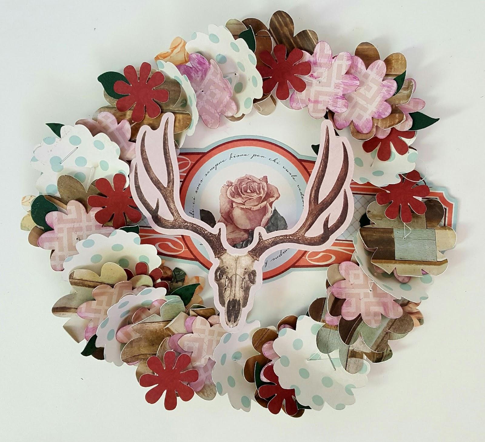 bobunny party wreath with bella rosa. Black Bedroom Furniture Sets. Home Design Ideas