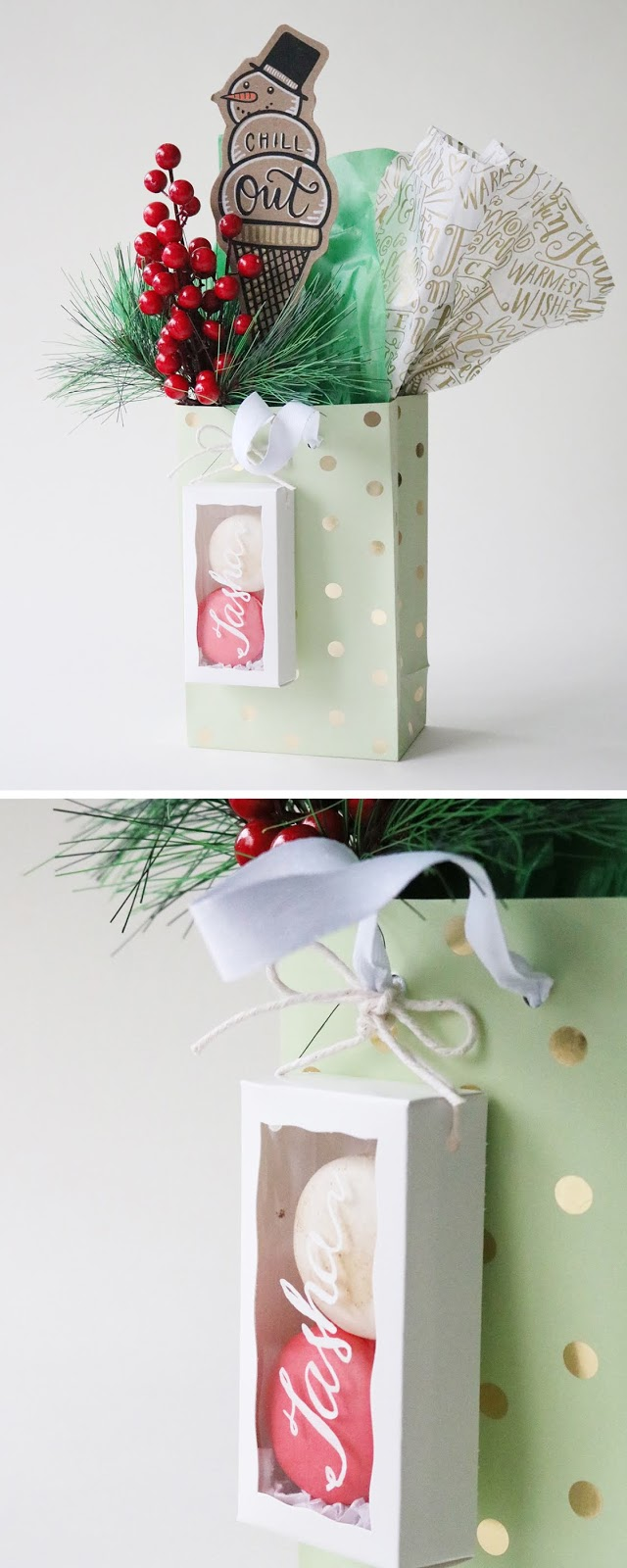 edible gift topper inspiration for holiday gift wrapping | Creative Bag and Bake Sale Toronto