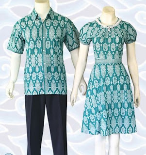 contoh baju batik couple terbaru