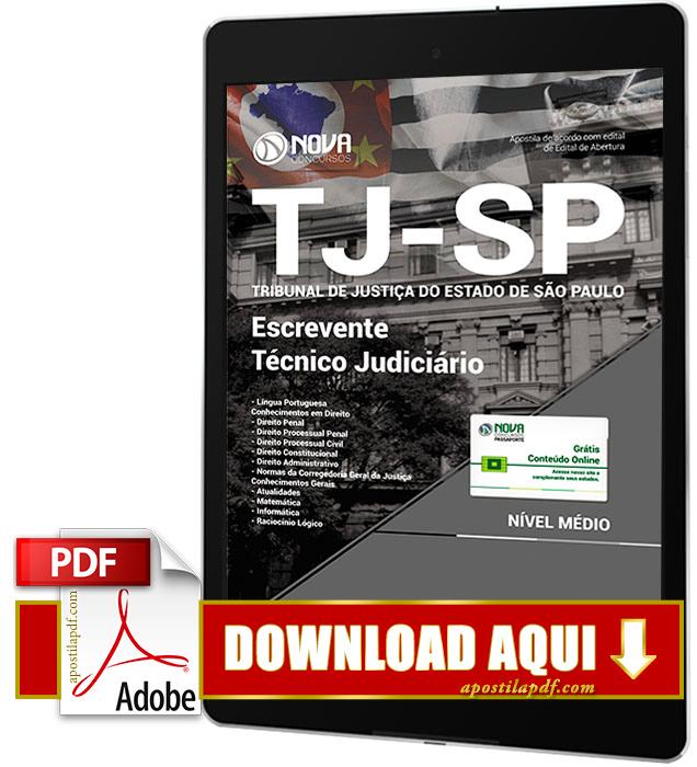 Apostila TJ SP 2017 PDF Download Escrevente Técnico Judiciário