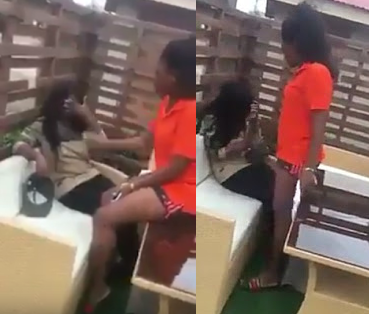 Lesbian Lady Slaps Her Partner Repeatedly For Allegedly Cheating On Her With A Man