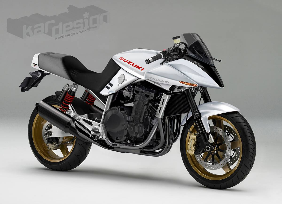 racing caf design corner suzuki katana by kardesign. Black Bedroom Furniture Sets. Home Design Ideas