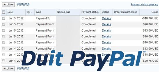 Duit Online PayPal