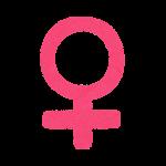 性別記号のイラスト(女性)
