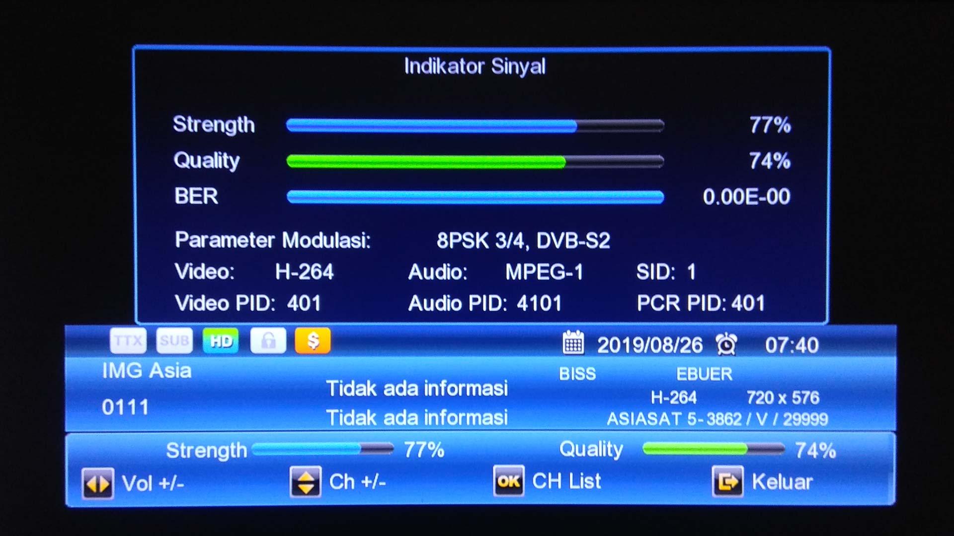Cara Menguatkan Sinyal Feed Asiasat 5