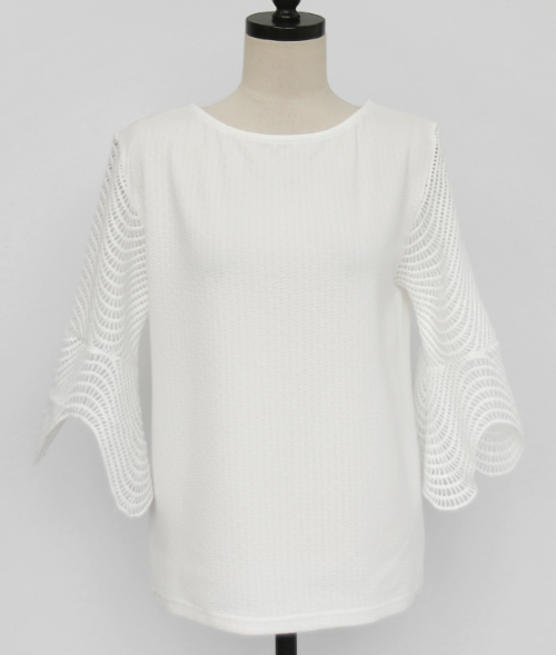3/4 Flounce Sleeve T-Shirt