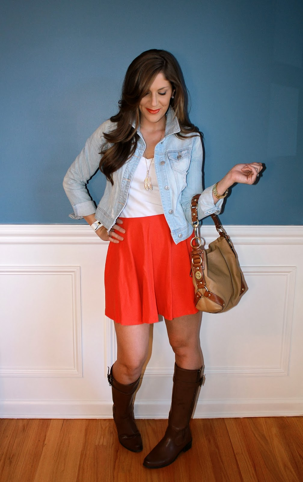 b4d7df82efe86 Outfitted411: Summer Skirt Turned Fall...