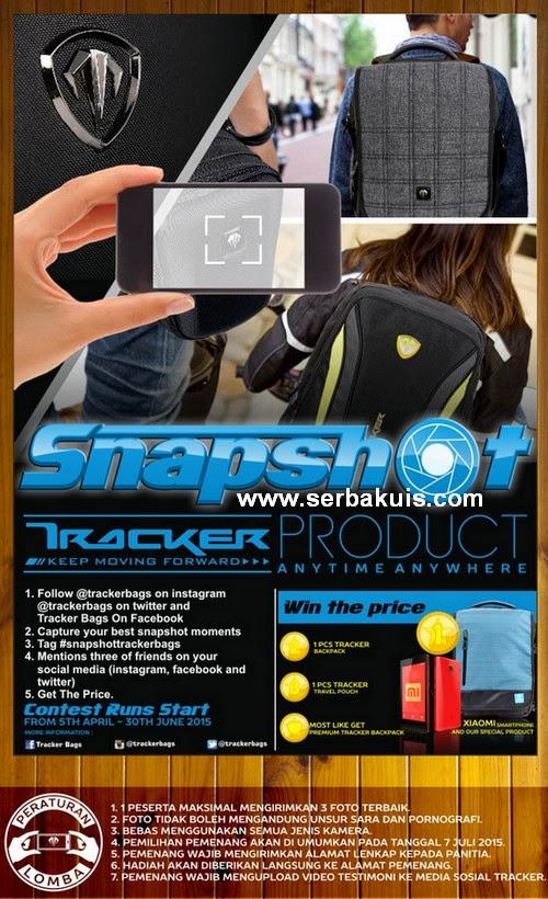Snapshot Tracker Bags Berhadiah Smartphone Xiaomi