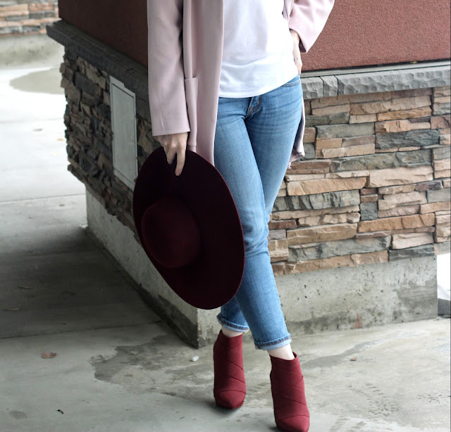 maroon booties from nordstrom