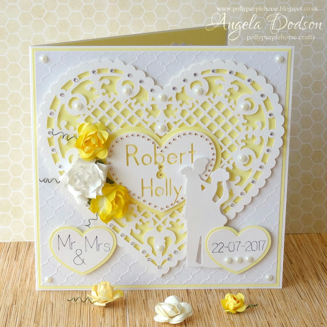 Hello, Today Iu0027m Going To Share A Recent Wedding Card Design Idea With You.  I Love To Use Papermilldirect White Linen Card Not Only For Itu0027s Lovely  Texture ...