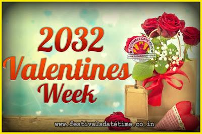 2032 Valentine Week List : 2032 Valentine Week Schedule, Hug Day, Kiss Day, Valentine's Day 2032