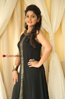 Kannada Actress Divya Uruduga Pos in Black Long Dress at Huliraaya Movie Audio Release Event  0003.jpg
