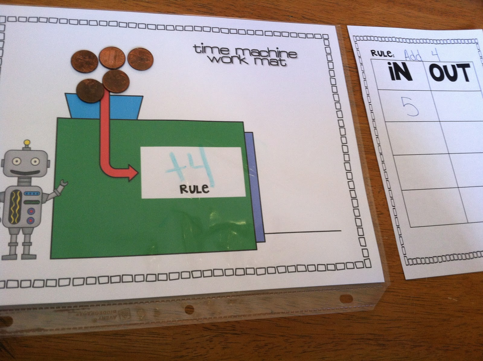 Extra Special Teaching Time Machine Addition And Subtraction Freebie
