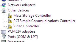 toshiba c640 pci simple communications controller driver windows 7