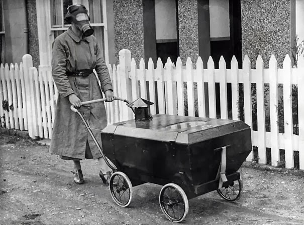 Women With A Gas-Resistant Pram, England, 1938
