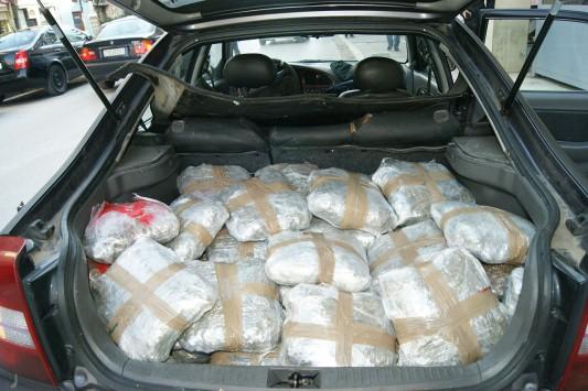 Ήγουμενίτσα: Μετέφεραν με αυτοκίνητο 56 κιλά χασίς
