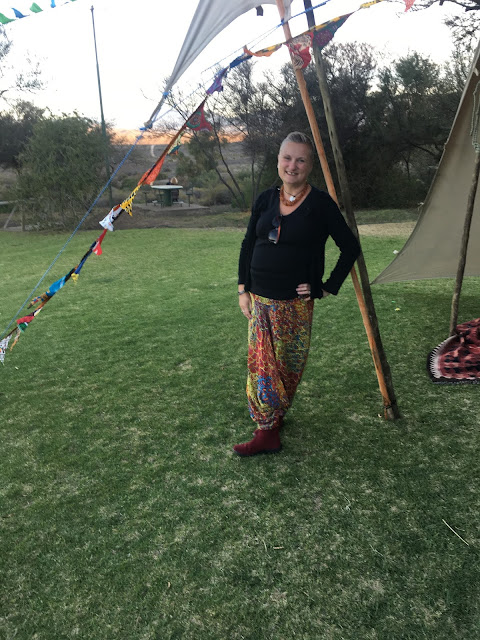 relaxing at the Spring Solstice festival at Warmwaterberg spa, South Africa