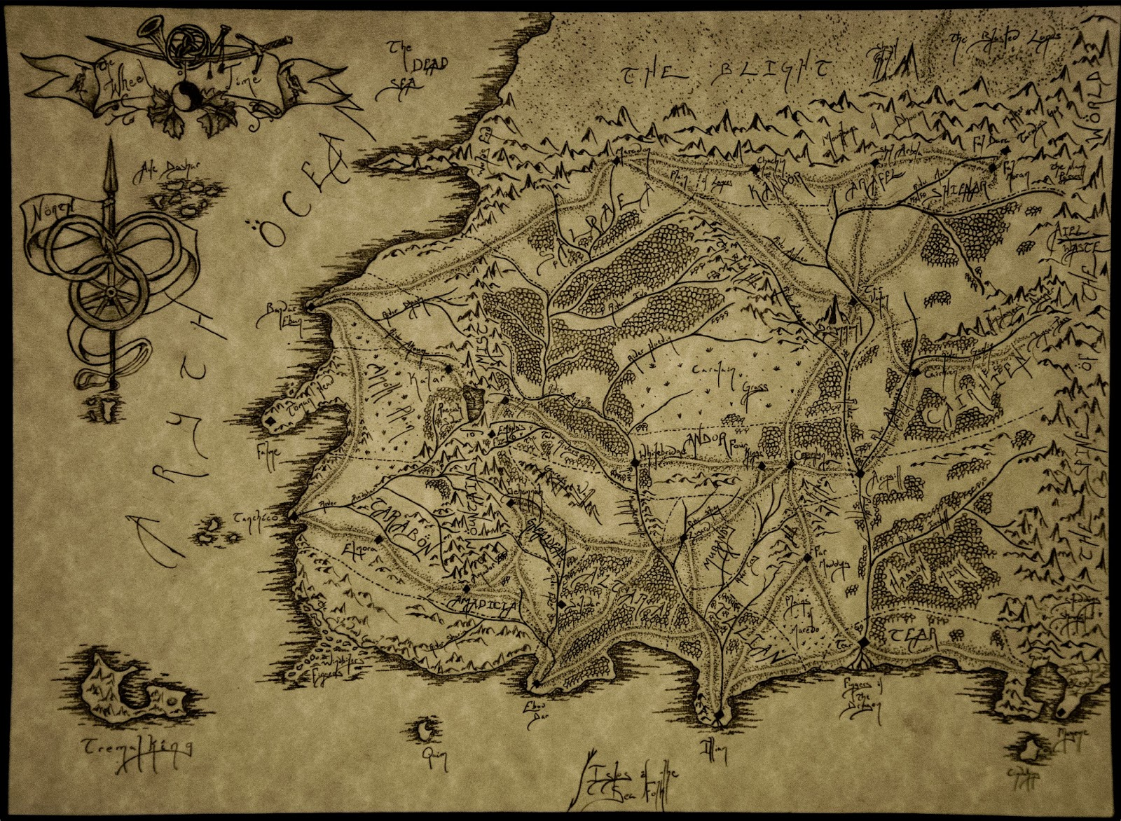 Shards of the Dark Age: Cartography- A Tribute to Robert Jordan