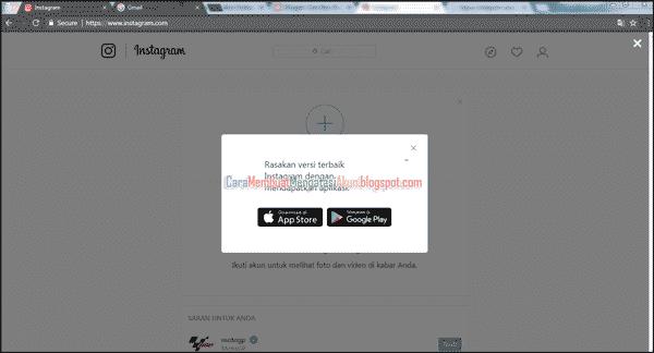 buat akun instagram lewat google - daftar instagram web