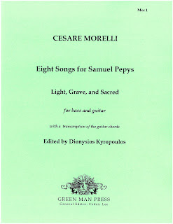 Cesare Morelli - Eight songs for Samuel Pepys