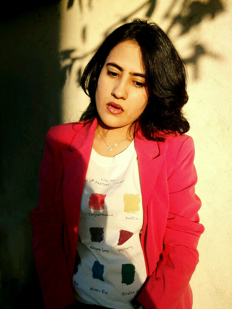Levi's tee,Only pink blazer,personal style blogger,indian fashion blogger