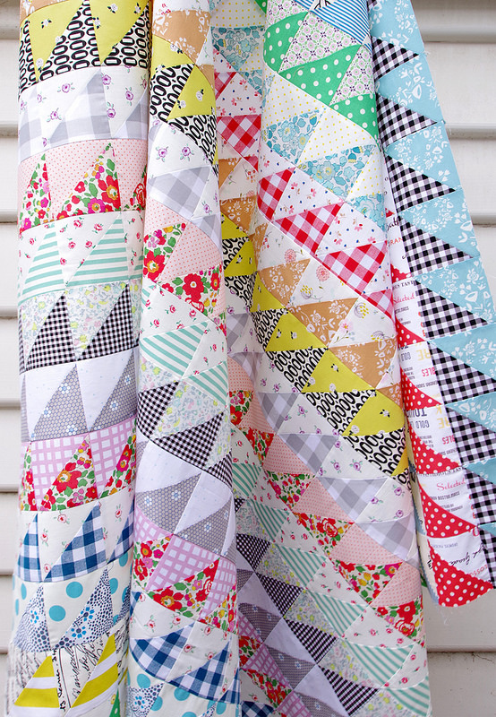 Half Square Triangles Galore | Quilt in Progress | © Red Pepper Quilts 2017