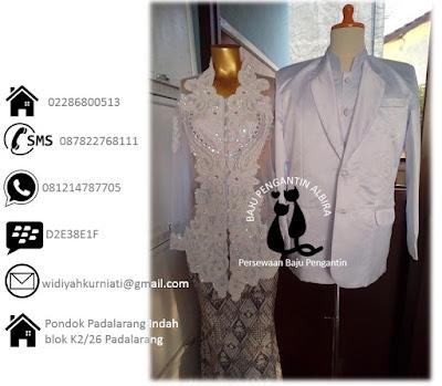 Sewa sepasang baju kebaya pengantin akad nikah harga mulai 300 ribu