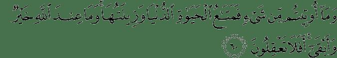 Surat Al Qashash ayat 60