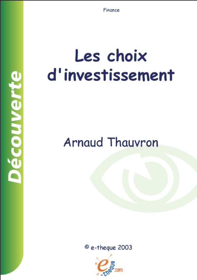 choix d u0026 39 investissement