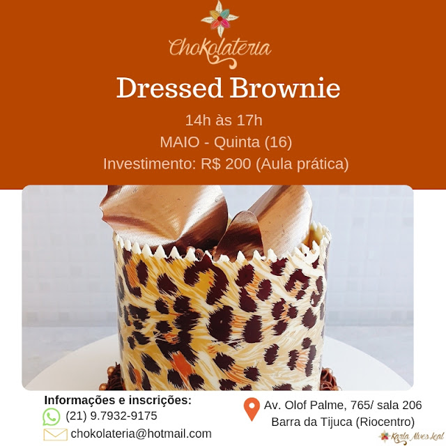 Curso de Dressed Brownie - Chokolateria Maio 2019