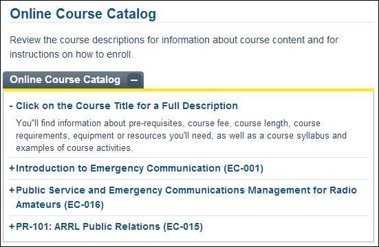 Online Course: Online Course Catalog